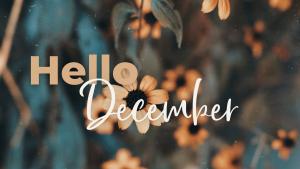 Hello December header